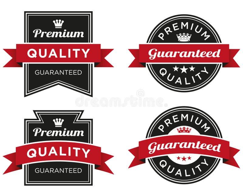 Premii ilość Gwarantująca etykietka obraz stock