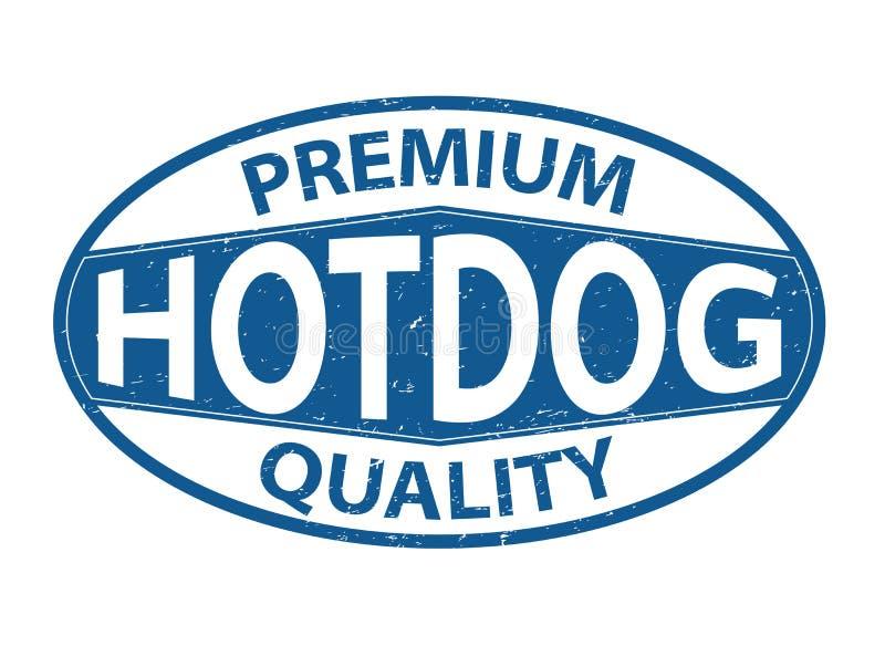 Premii ilości hotdog sieci pieczątki brudna starzejąca się owalna ikona ilustracji