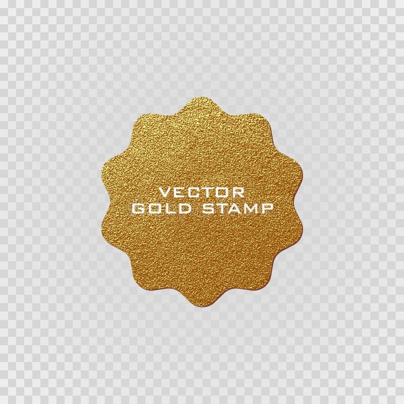 Premii ilości złota etykietka Złoto znak Błyszcząca, luksusowa odznaka, Najlepszy wybór, cena royalty ilustracja