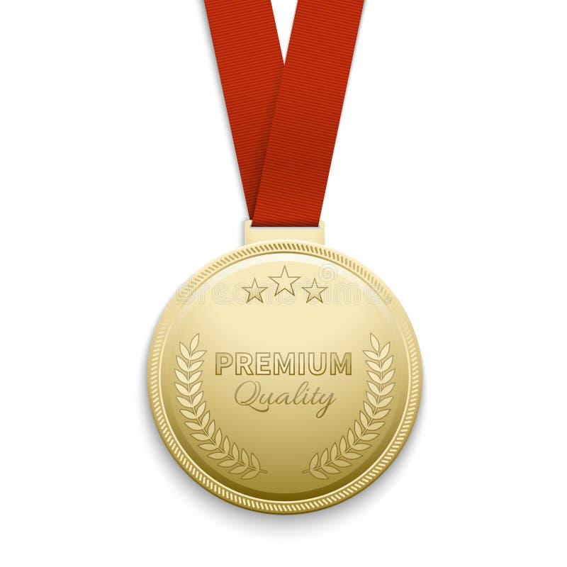 Premii ilości złotego medalu wektoru ilustracja ilustracji