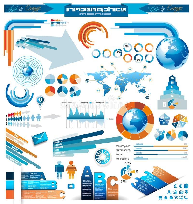 Premii infographics mistrza kolekcja royalty ilustracja