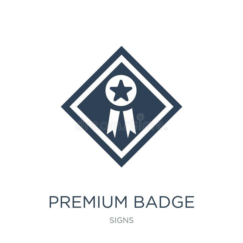 premii odznaki ikona w modnym projekta stylu premii odznaki ikona odizolowywająca na białym tle premii odznaki wektorowa ikona pr royalty ilustracja