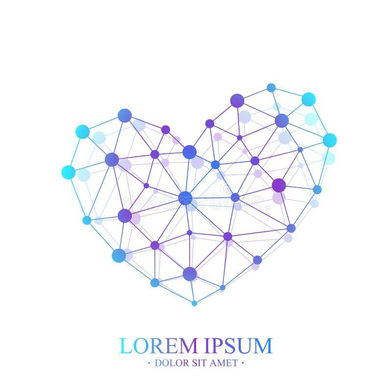 Premii serca logotyp Kolorowy Wektorowy szablonu serca logo ilustracja wektor