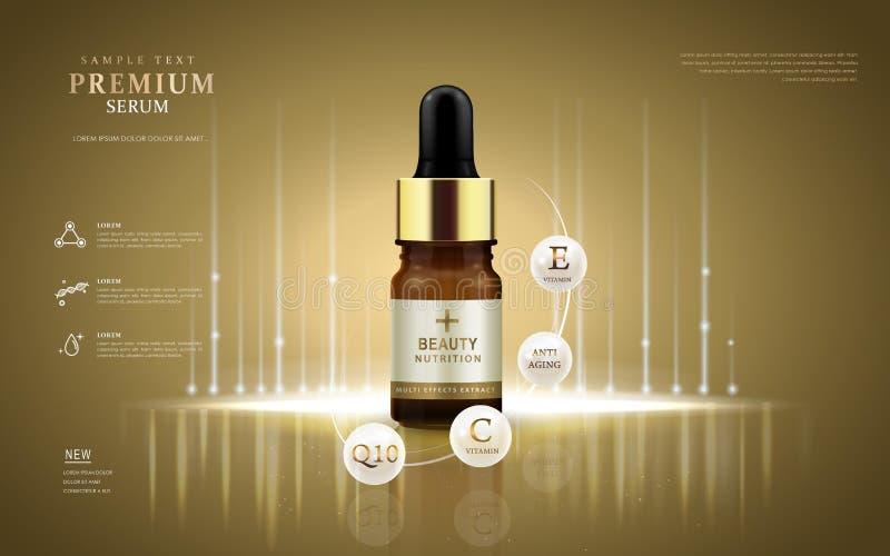 Premii serum reklamy ilustracja wektor