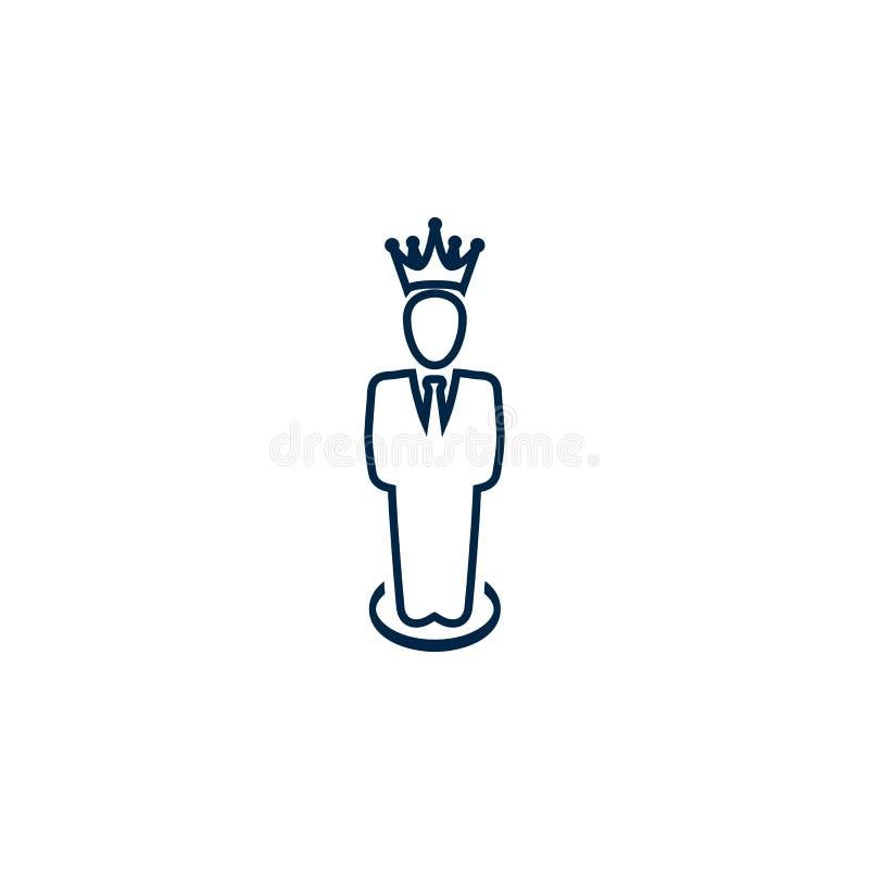 Premio, affare, prestazione, successo, gruppo, vincitore, corona sull'icona capa illustrazione di stock