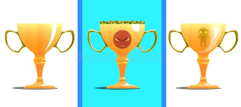 Premio bajo la forma de tazas fotografía de archivo libre de regalías