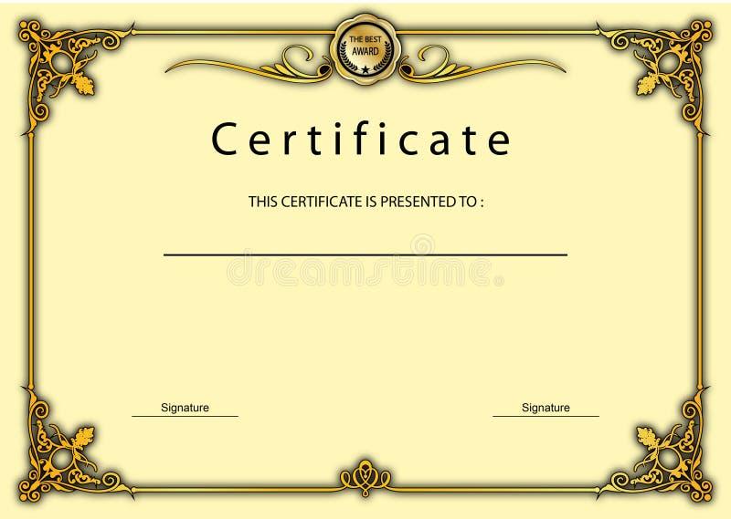 Premio d'annata del certificato/modello del diploma illustrazione vettoriale