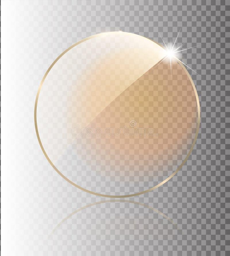 Premio de cristal del trofeo Premio del vector en fondo gris Diseño realista 3D Objeto transparente del vector stock de ilustración