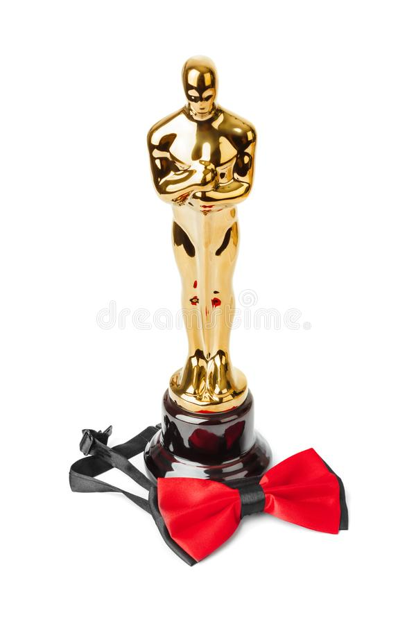 Premio de la ceremonia y de la corbata de lazo de Óscar foto de archivo