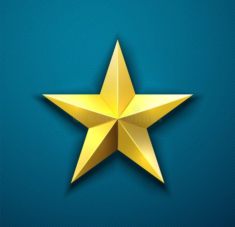 Premio de la estrella del oro ilustración del vector