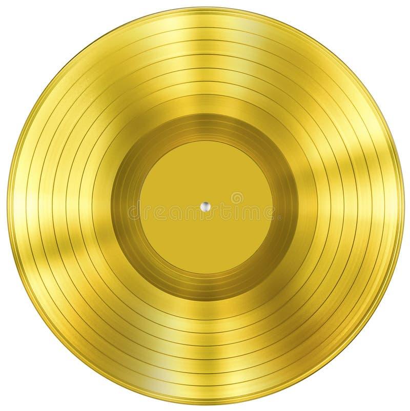 Premio de la música del disco del oro aislado fotografía de archivo libre de regalías
