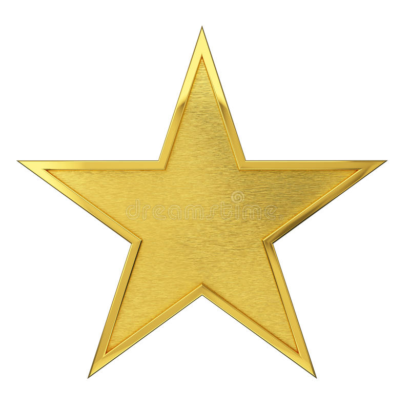 Premio de oro cepillado de la estrella imagenes de archivo