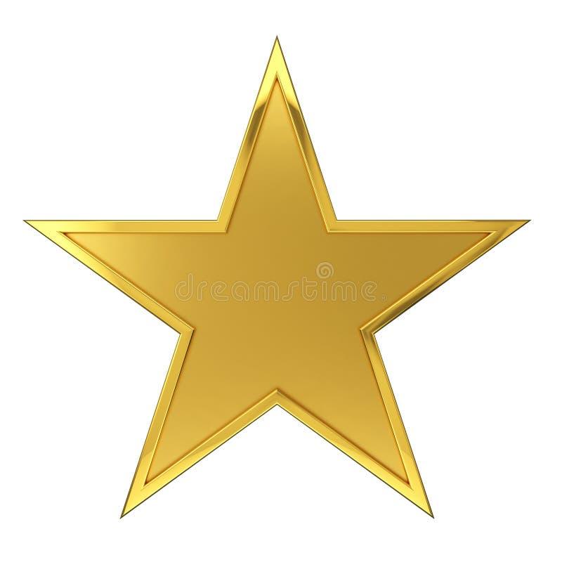 Premio de oro de la estrella foto de archivo libre de regalías