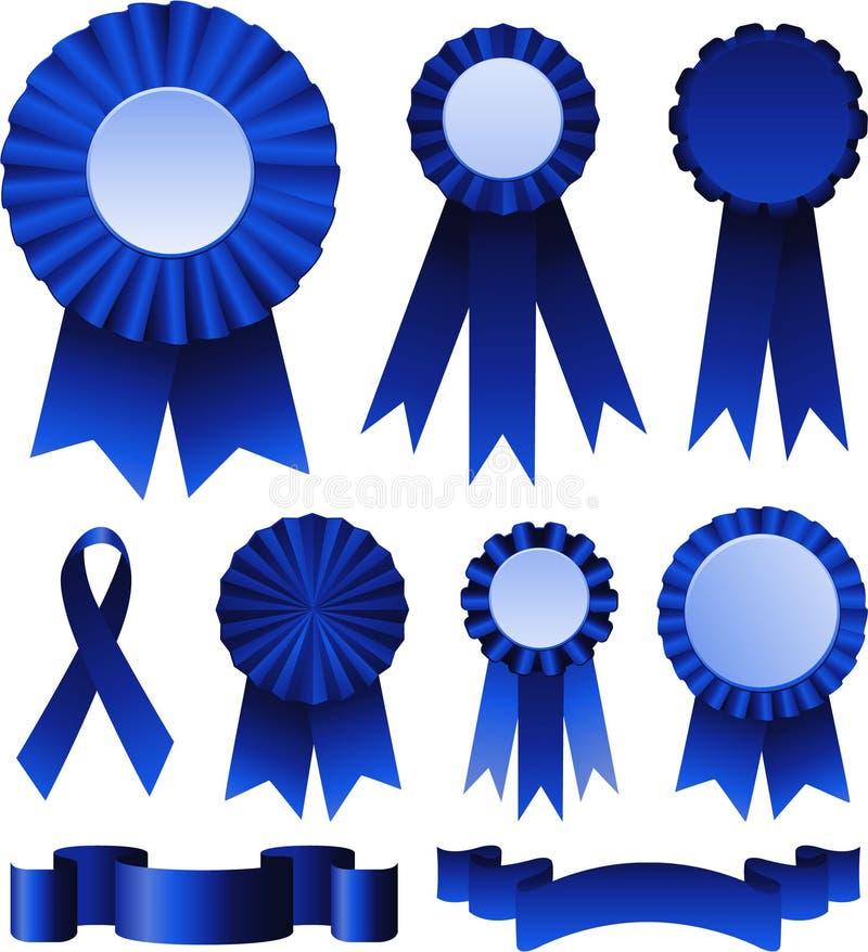 Premio dei nastri blu illustrazione vettoriale