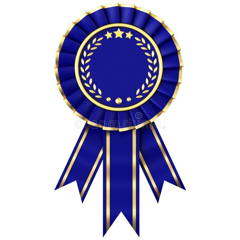 Premio del nastro blu illustrazione di stock