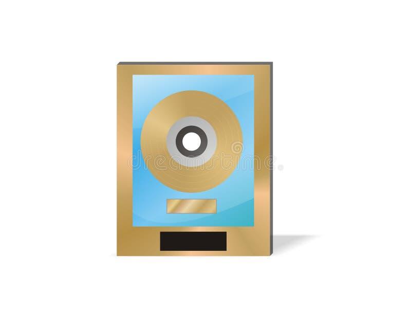 Premio del record dell'oro illustrazione di stock