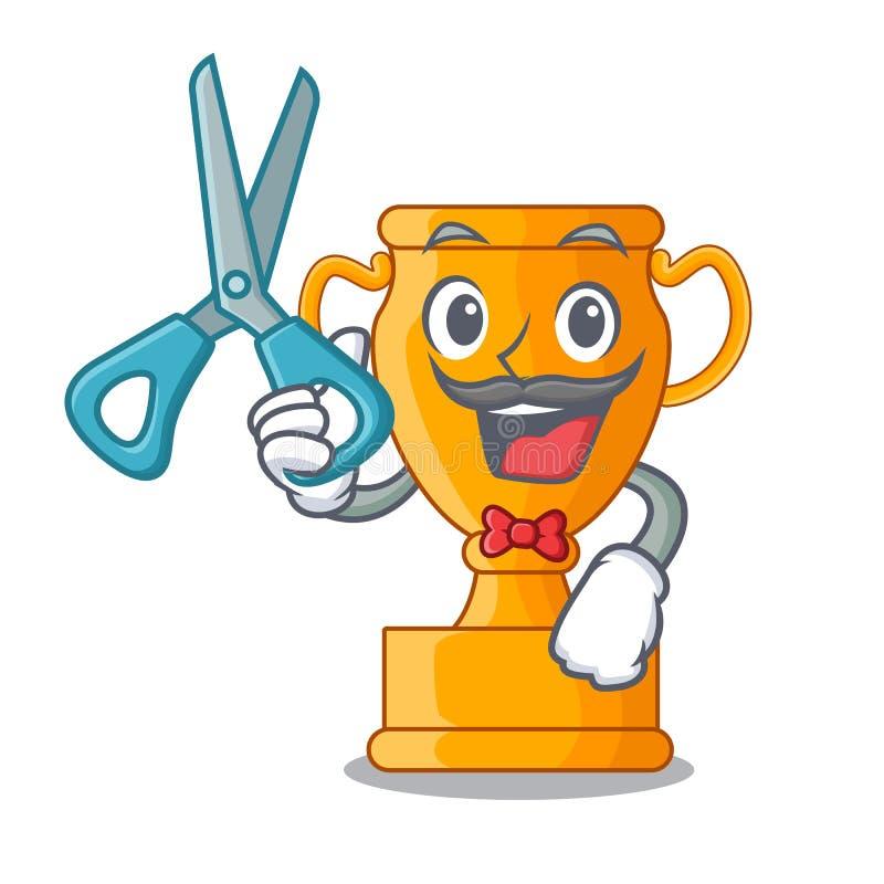 Premio del trofeo del oro del carácter del peluquero para la competencia libre illustration