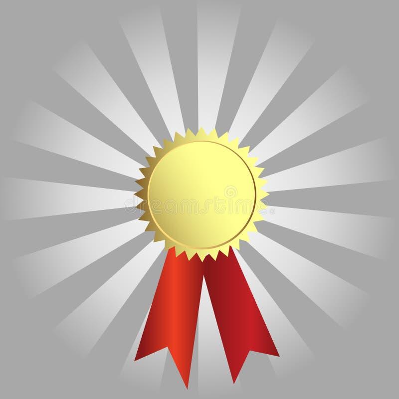Premio dell'oro di vettore illustrazione vettoriale