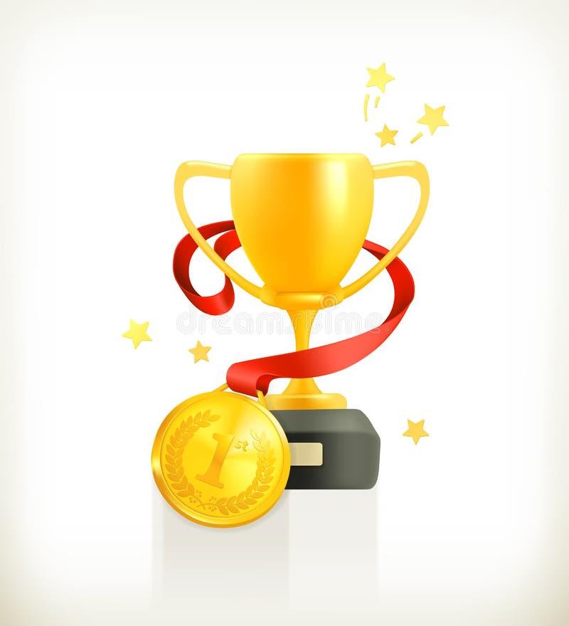 Premio dell'oro, icona di vettore royalty illustrazione gratis
