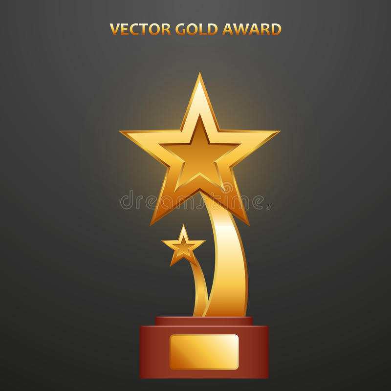 Premio dell'oro sotto forma di stelle illustrazione vettoriale