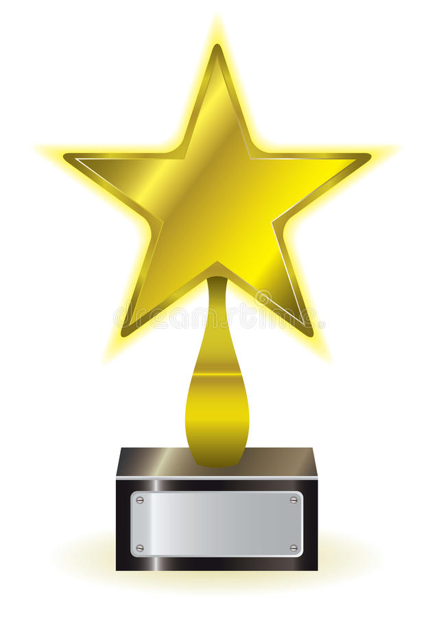 Premio della stella dell'oro illustrazione di stock