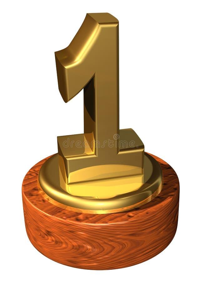 Premio di numero uno illustrazione vettoriale