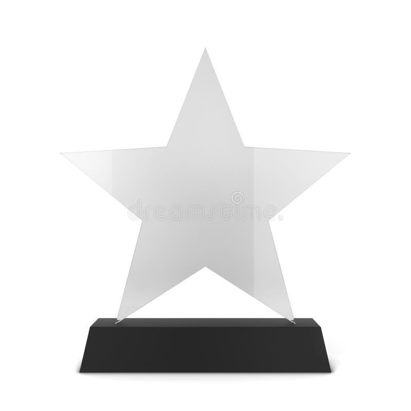 Premio di vetro illustrazione vettoriale