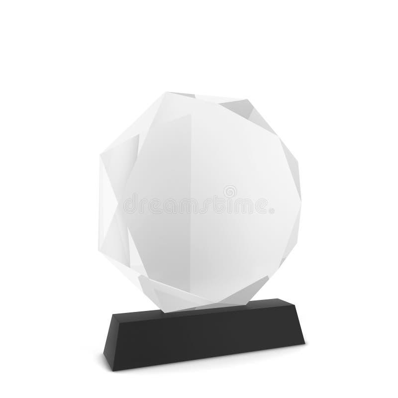 Premio di vetro illustrazione di stock