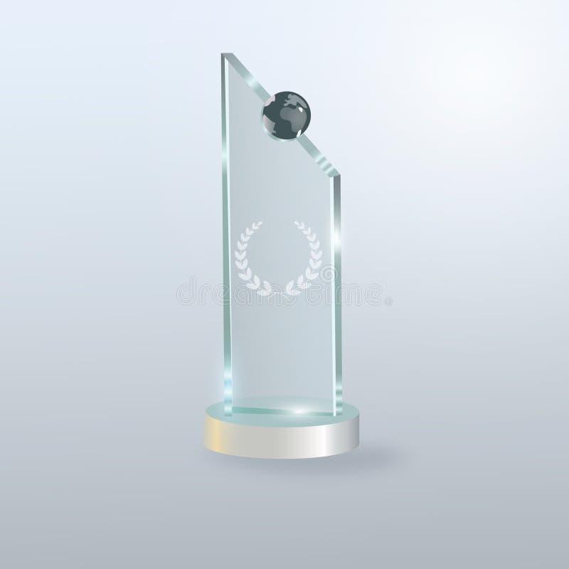 Premio di vetro del trofeo Priorità bassa dell'illustrazione di vettore illustrazione vettoriale