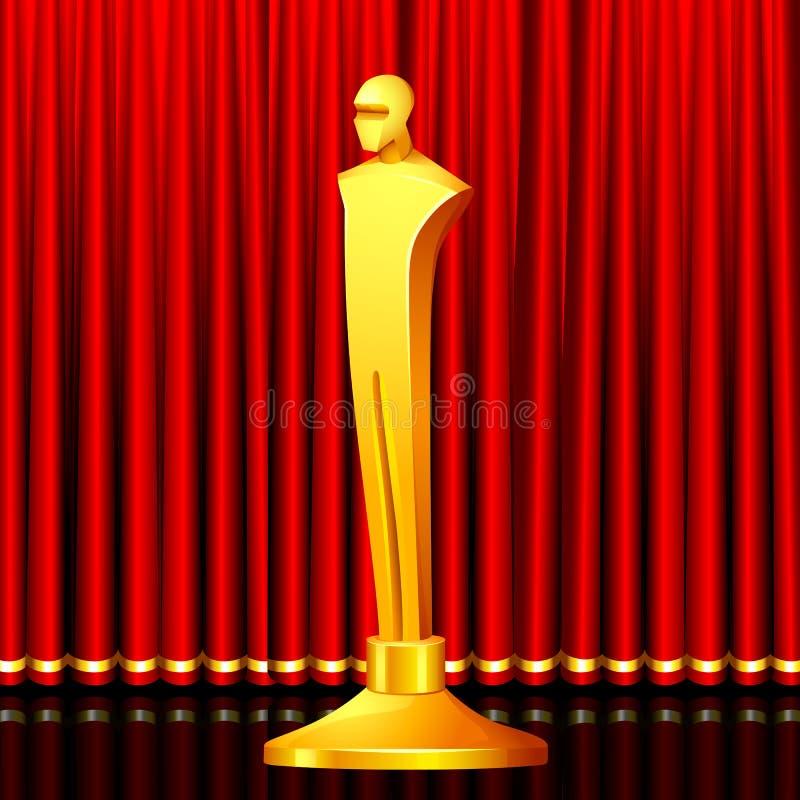 Premio dorato illustrazione di stock