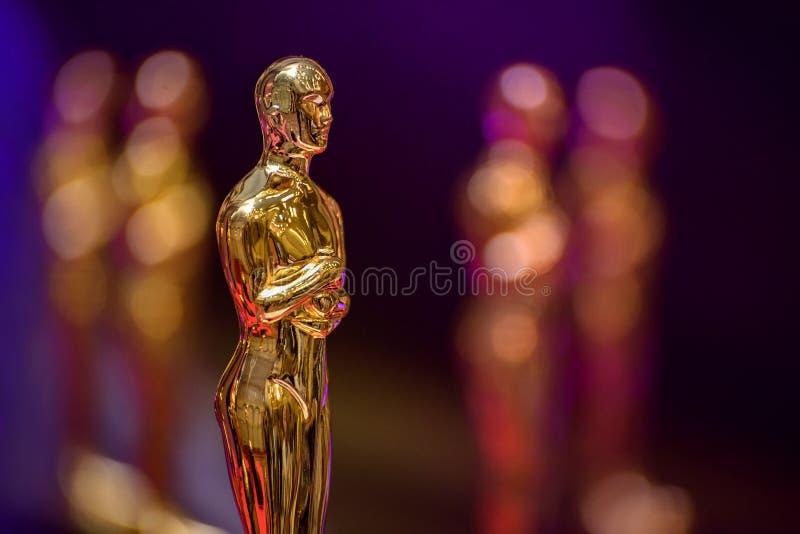 Premio dorato fotografia stock libera da diritti