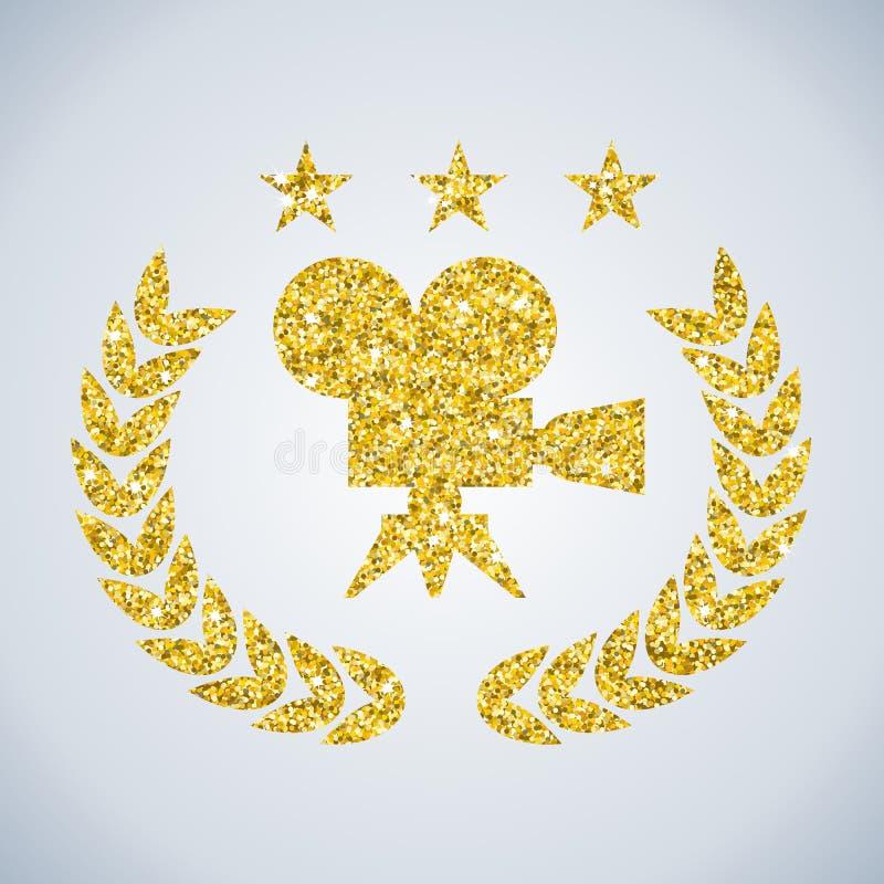 Premio dorato del film royalty illustrazione gratis