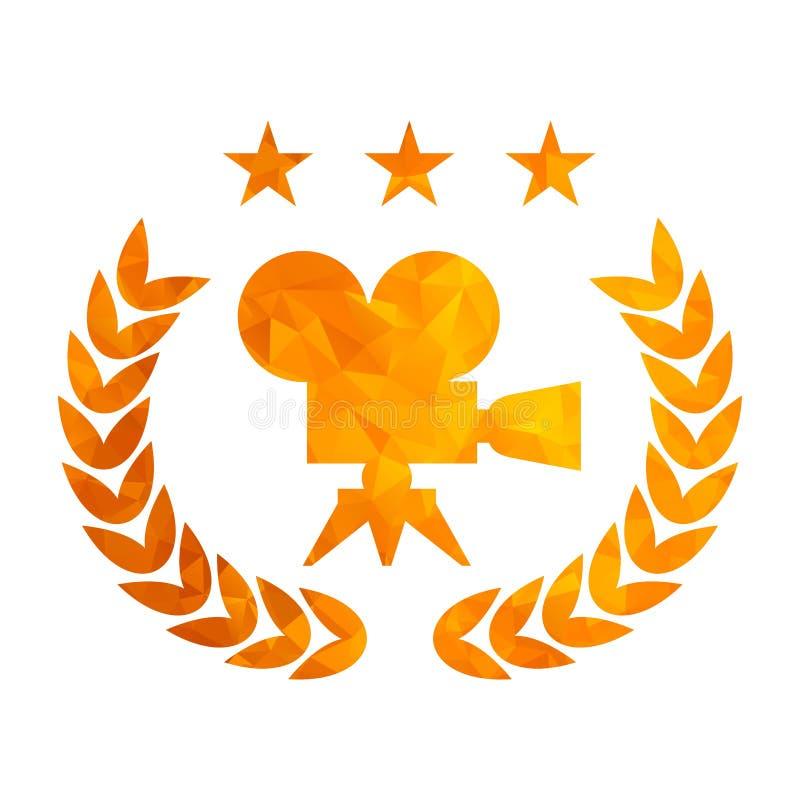 Premio dorato del film del tryangle illustrazione vettoriale