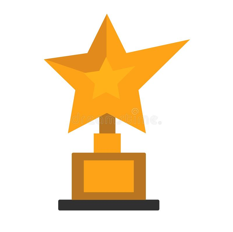 Premio dorato della stella sull'illustrazione bianca di vettore illustrazione vettoriale