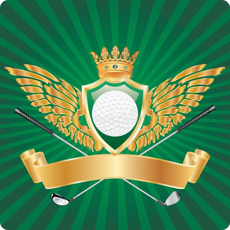 Premio dorato di golf illustrazione vettoriale