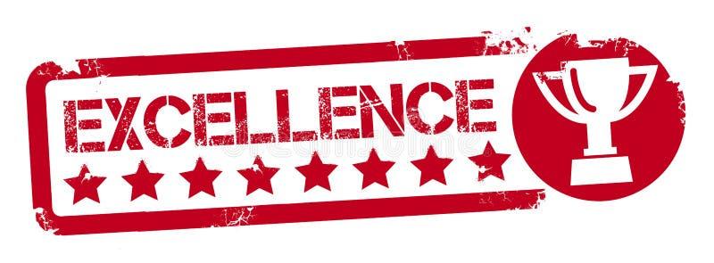 Premio a la excelencia - sello borroso rojo ilustración del vector