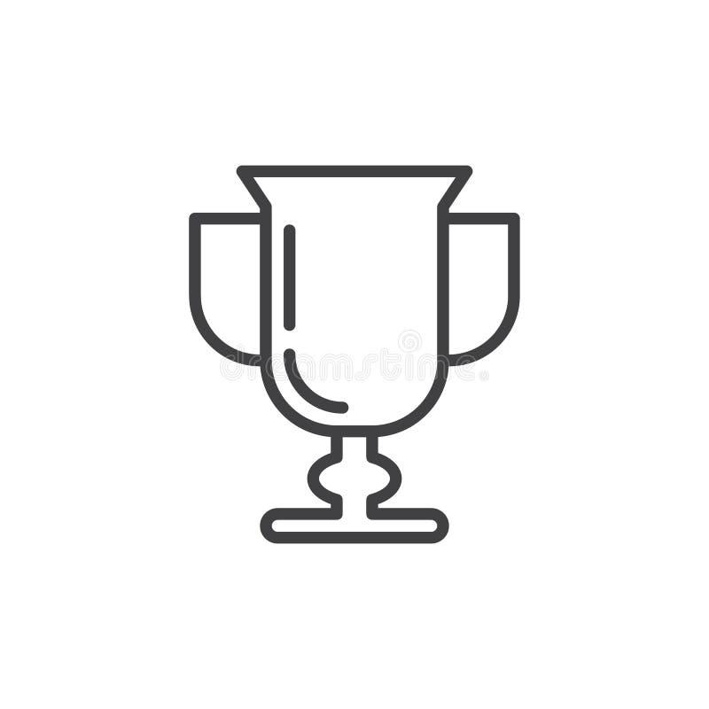 Premio, linea icona, segno di vettore del profilo, pittogramma lineare del vincitore di stile isolato su bianco illustrazione di stock