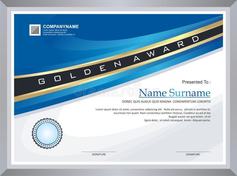Premio - modello del diploma illustrazione vettoriale