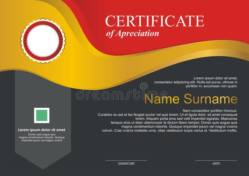 Premio - plantilla del diploma con diseño moderno libre illustration