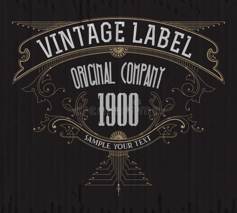 Premio tipográfico de la etiqueta del vintage libre illustration
