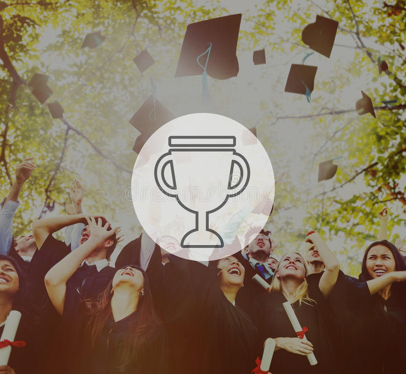 Premio Victory Success Achievement Concept de la recompensa del trofeo imagenes de archivo