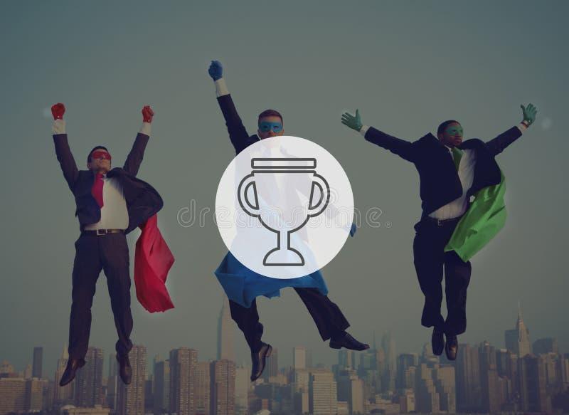 Premio Victory Success Achievement Concept de la recompensa del trofeo foto de archivo