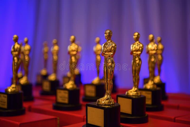 Premios de oro elegantes fotografía de archivo libre de regalías