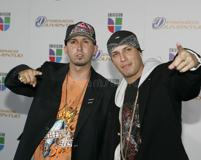 2006 Premios Juventud Awards. Alex Y Fido arrive on the red carpet for the 2006 Premios Juventud Awards at the University of Miami BankUnited Center in Coral stock photography