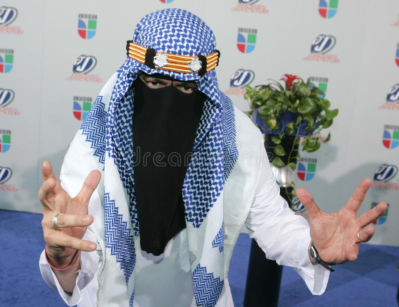 2009 Premios Juventud Awards. The Taliban arrives for the 2009 Premios Juventud Awards at the University of Miami BankUnited Center in Coral Gables, Florida on royalty free stock photo