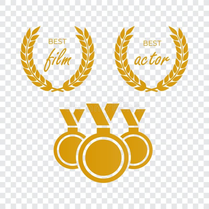 Premios para la mejor película Vector del nombramiento del premio Premio de la medalla para b ilustración del vector