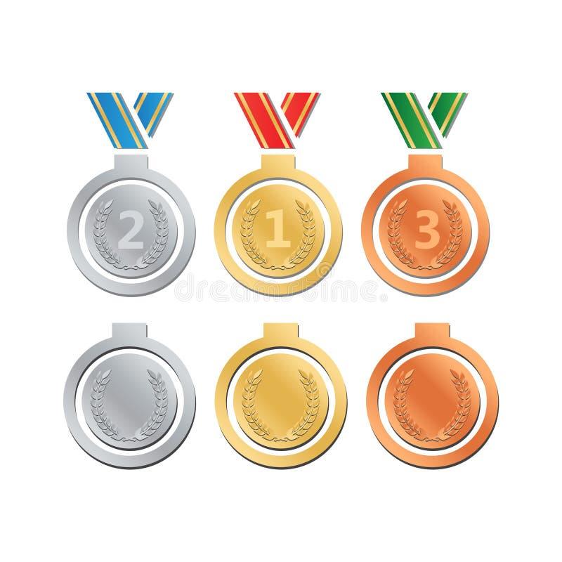 Premios para la mejor película Vector del nombramiento del premio Premio de la medalla para b stock de ilustración