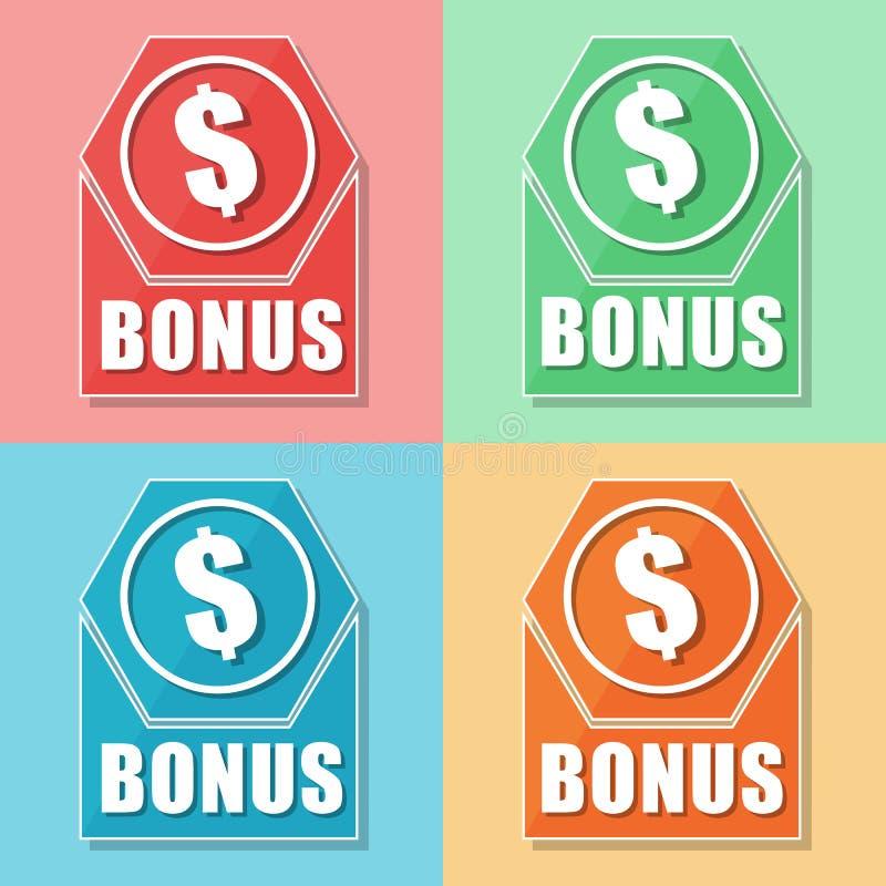 Premiowy i dolarowy symbol, cztery kolor sieci ikony ilustracji