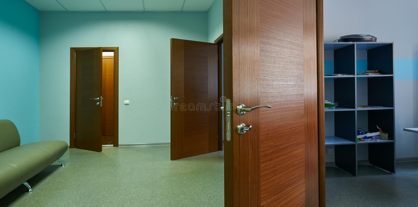 Premise and corridor. With a door royalty free stock images
