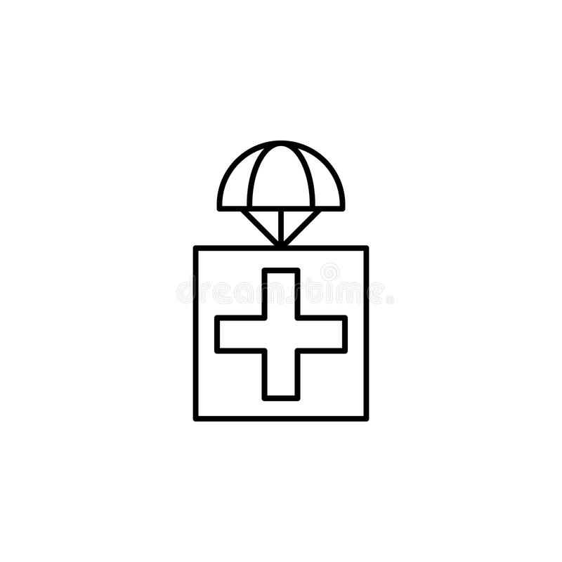 premise with medicines icon. Element of drones for mobile concept and web apps illustration. Thin line icon for website design and stock illustration
